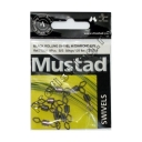 Mustad - Black Rolling Swivel