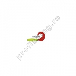ShadXperts - Twister Regular 6cm Galben Fluo/Rosu - 10buc/set